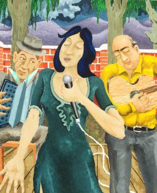 Irene Dominguez cantando tangos