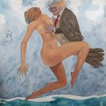 Mistral con Matta Oleo tela 145 x 120cm.