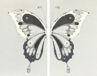 Mariposa en B y N Díptico