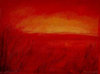 Espigas en rojo