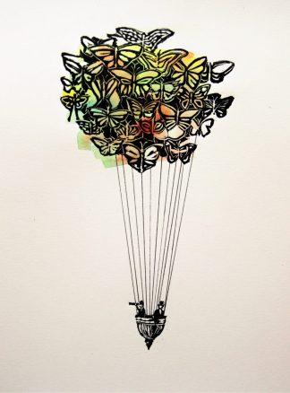 Globo de mariposas