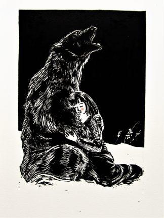 Niña con oso