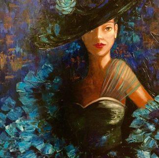María en azul